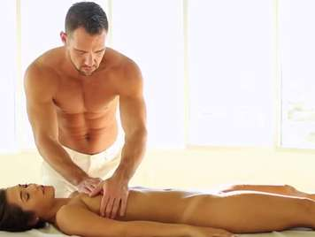 Very hot massage ends in sex and facial cumshot