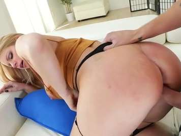 Blonde loves to have her ass broken anal sex