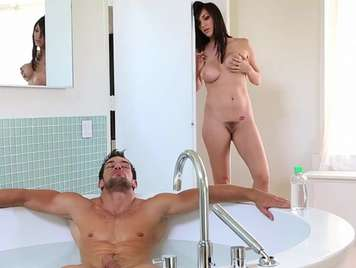 Busty spy her stepbrother to fuck