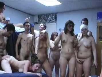 Horny college girls enjoy groupsex