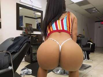 Latina with a big ass fucking in the hairdresser