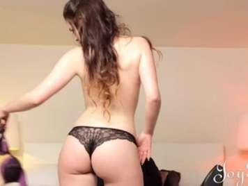 Very sexy black thong from an 18-year-old girl