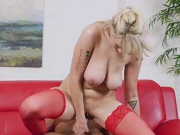 Busty mature enjoys a cock for her pussy