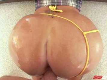 Big ass bathed in oil ready to drill