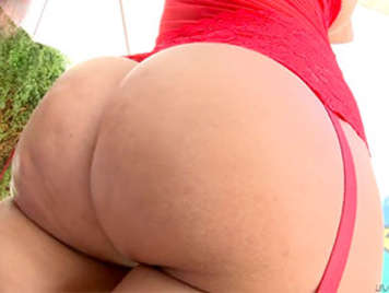 Fucking the butt of a lush latina milf with big tits