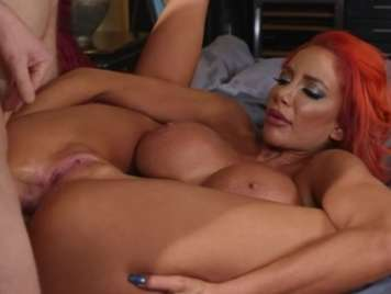 Redhead With Big Tits Likes Anal Sex