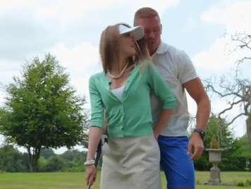 Golf sportsman wants a hard, milk-filled stick