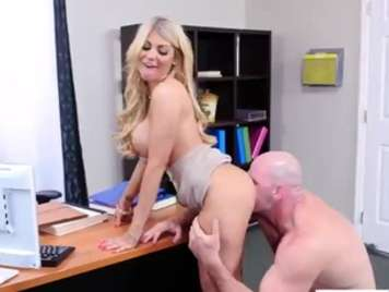 Secretary fucking on the office table xxx