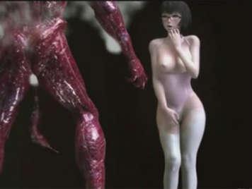 3D hentai girl fucked by an alien monster