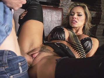 Colombian Guerrilla Mature woman hot fucking a big cock