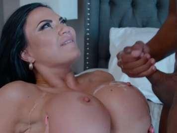 Big tits mature hot milk bathe