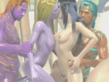 3D hentai monster orgy