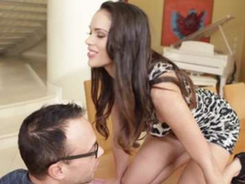 Secretary seduces her boss at the office table