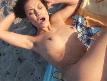 Sex on the beach with Ruby Knox