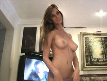 Sex video with ex-girlfriend of natural tits