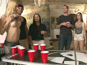 College party on campus