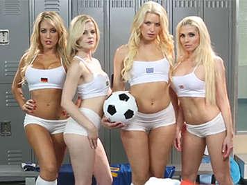 team Girls porn soccer