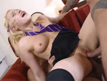 Lola Taylor in a brutal double penetration