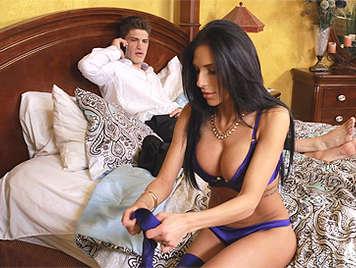 Horny MILF in lingerie wants hard sex