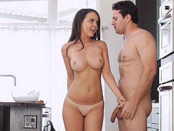 Perfect girl in a sexy natural tits porn video