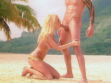 Fantastic dream beach sex with blonde bombshell