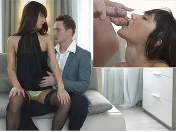 Very loving couple, he gets anal sex and she a nice facial cumshot