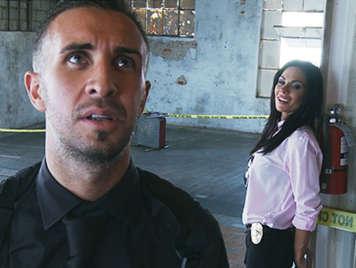 Police detective brunette huge cock of his partner fucks
