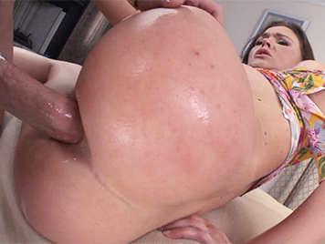 Hard anal sex with a busty blue-eyed slut