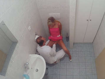 Hidden camera in the bathroom of a hospital fucking a mature by reviewing her gynecologist