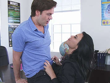 Busty teacher fucking hard fours offering her pussy open and wet let it cum into her wet pussy full of cum with his tongue licking the semen that falls on the table