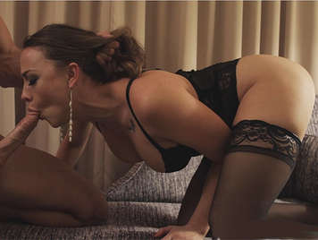 Expert luxury whore with nice tits and a divine ass sucking and fucking hard in a luxury hotel