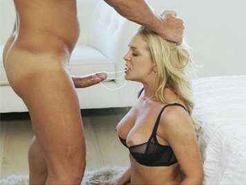 Hot mature blonde having anal sex and deep sloppy oral sex