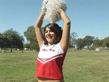 Fucking with a chubby and hot cheerleader