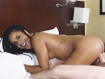Naughty mulatto girl and  shameless, fucking hard and funny receives  a great cumshot in her face