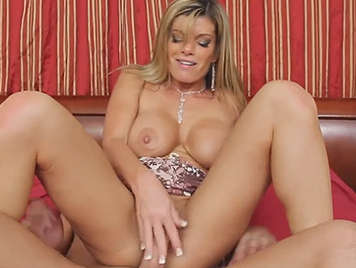 Horny on the couch with horny milf