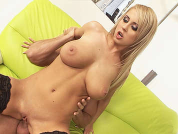 Glamour Babe with a big natural boobs fucked In The ass