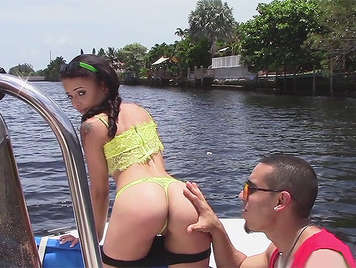 Tiny little neighbor with a wonderful ass fucked until it swallows a good cumshot