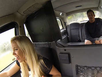 Female fake taxi fucking with her client