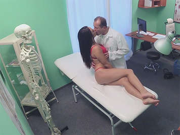 Hidden camera recording a pervert Doctor fucking a pretty patient