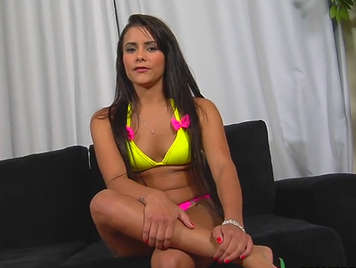 Porn casting and interview to a hot brazilian brunette