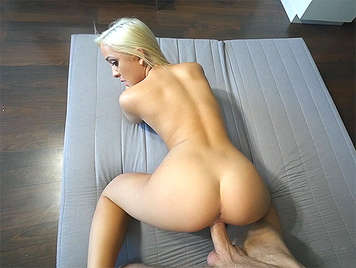 Sex with Cleo Vixen, a young blonde and tiny but with good ass