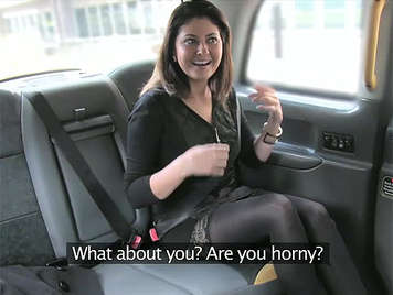 Belgian milf got into the cab and offered me her body to fuck in exchange for a free ride.