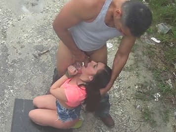 Innocent babe is forced and fucked hard in a vacant lot