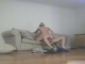 Couple of adulterers recorded with hidden camera, fucking in a dirty hotel