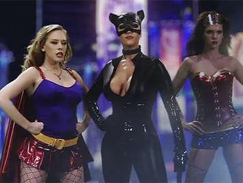 Super heroines avenging of sex